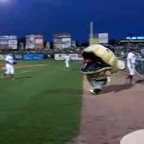 Roger Clamens eats the bat boy