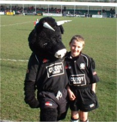 Neath Mascot Brian the bull